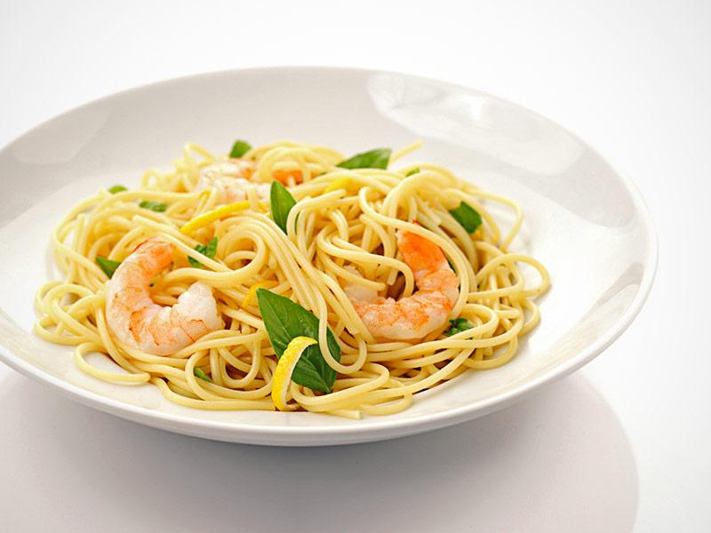 Receta de pasta con camarones