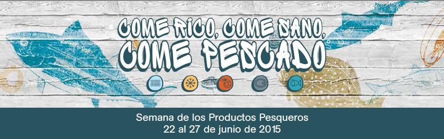 cartel semana productos pesqueros